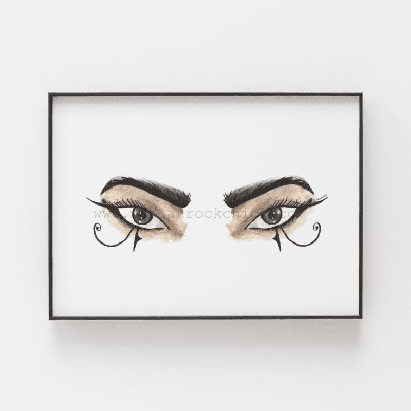 the eyes have it framed nubainrockchick