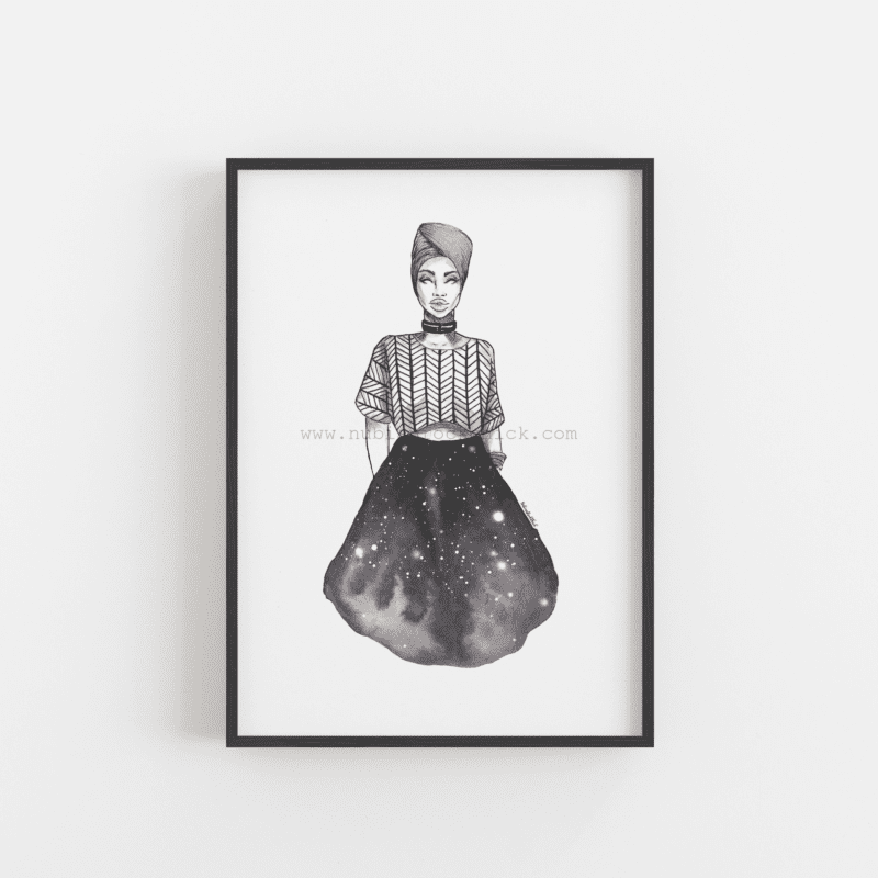 queen of my universe framed nubianrockchick