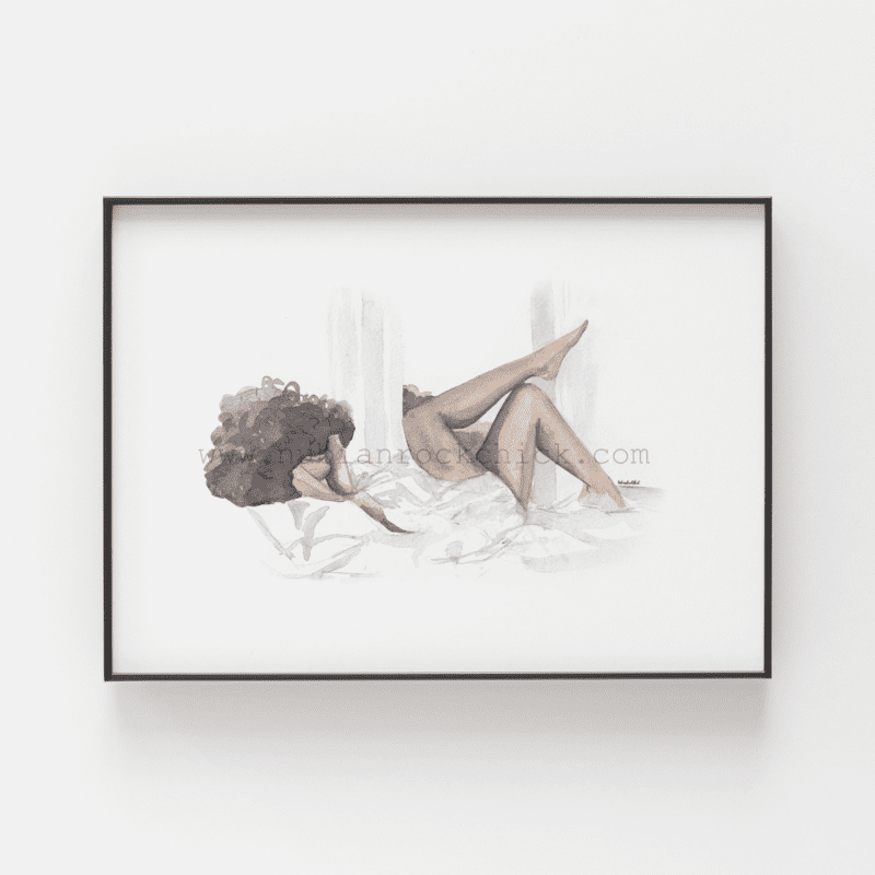 lazy sunday framed nubianrockchick
