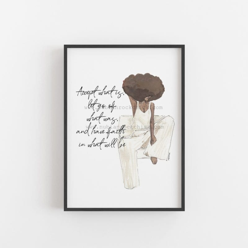 Have Faith afro art artwork print