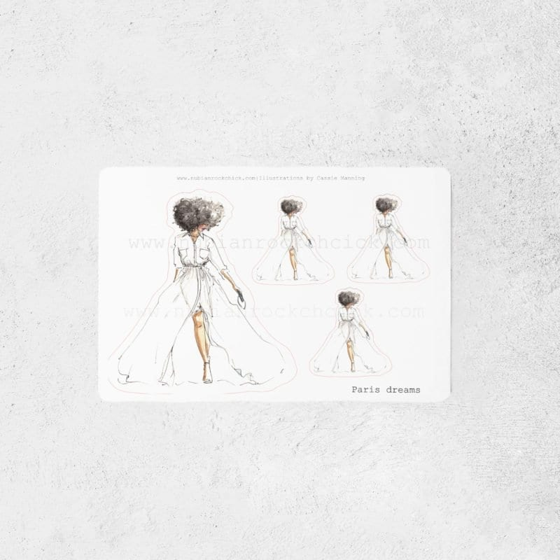 chic afroc chick art print