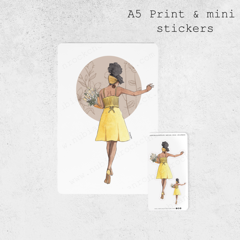 A5 Print & mini stickers template copy