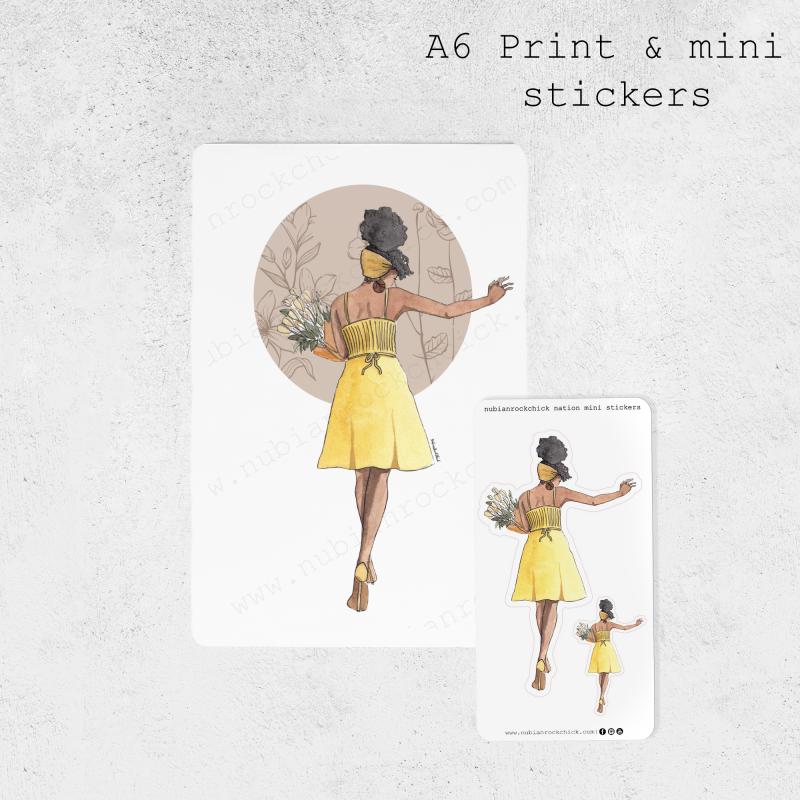 A6 Print & mini stickers template copy