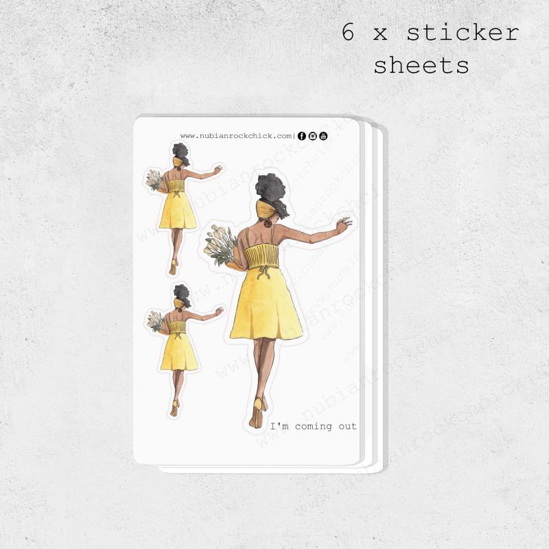 Happy girl stickers