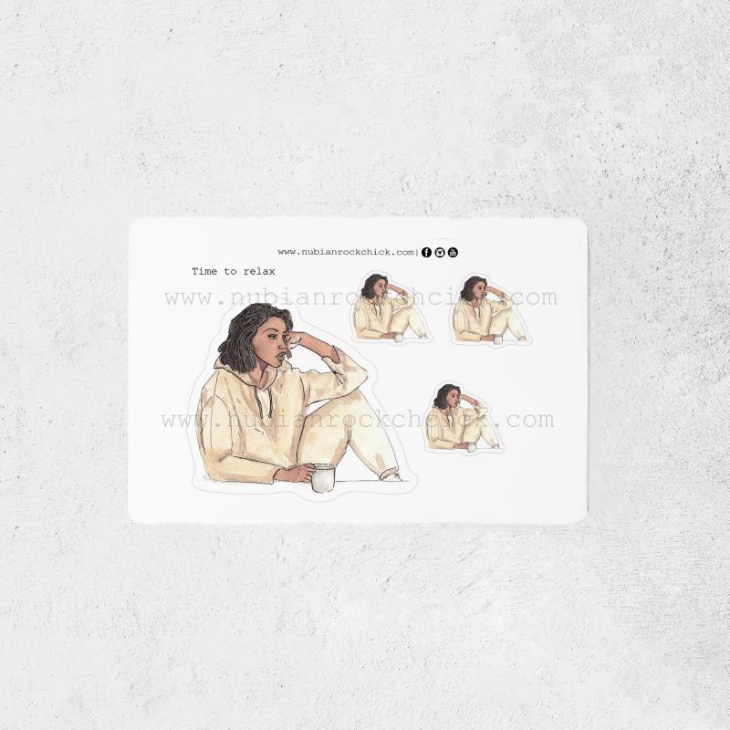 Black Chill girl stickers