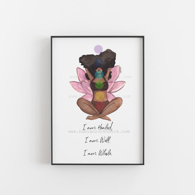 meditation print with affirmation